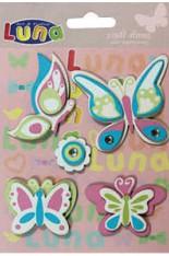 Бабочки-стикеры LUNA