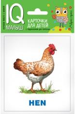 ENGLISH. Животные фермы. Набор карточек для детей(11 карточек)..